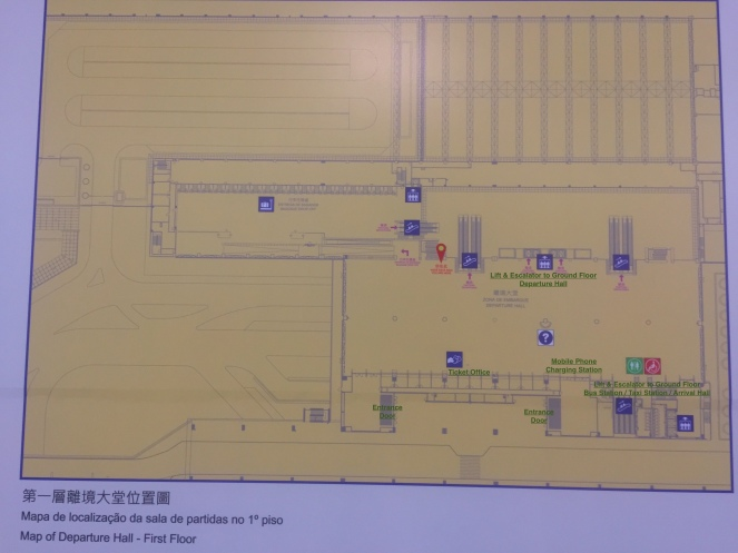 First Floor Taipa Ferry Terminal with Description